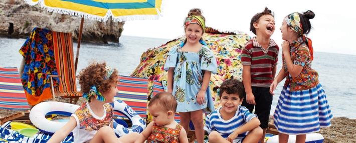 Dolce&Gabbana SS13, детская пляжная коллекция