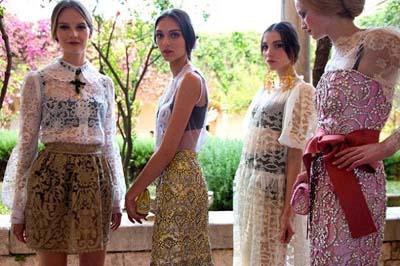 Анна Делло Руссо, Dolce&Gabbana от-кутюр, дамасские платья