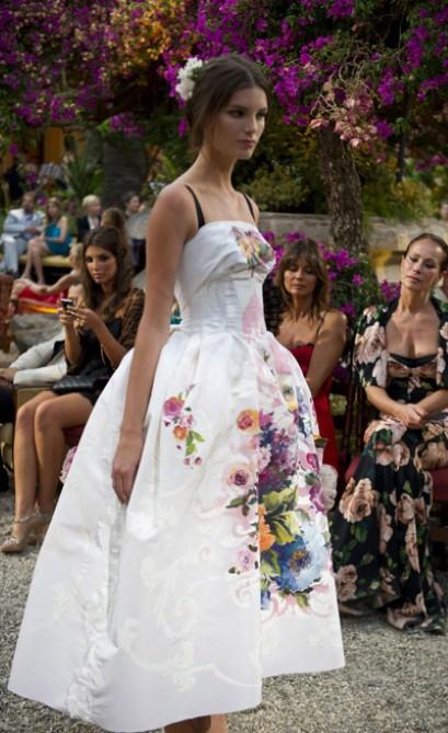 Анна Делло Руссо, Dolce&Gabbana от-кутюр, цветы