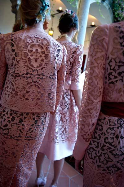 Анна Делло Руссо, Dolce&Gabbana от-кутюр, розовая органза