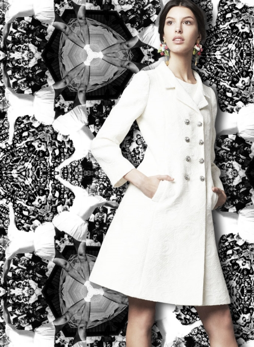 Dolce&Gabbana для Уимблдона, парчовое пальто