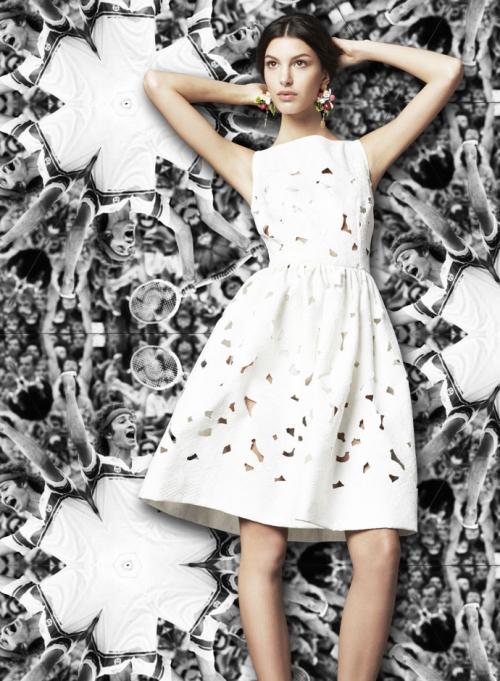 Dolce&Gabbana для Уимблдона, платье с интарсией