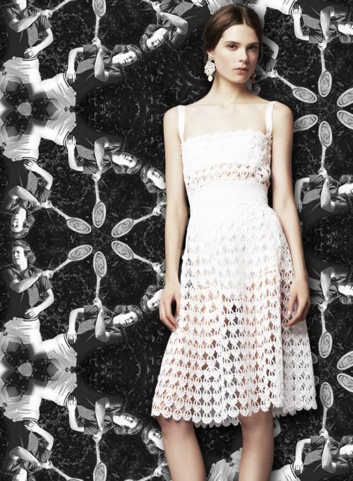 Dolce&Gabbana для Уимблдона, платье из макраме