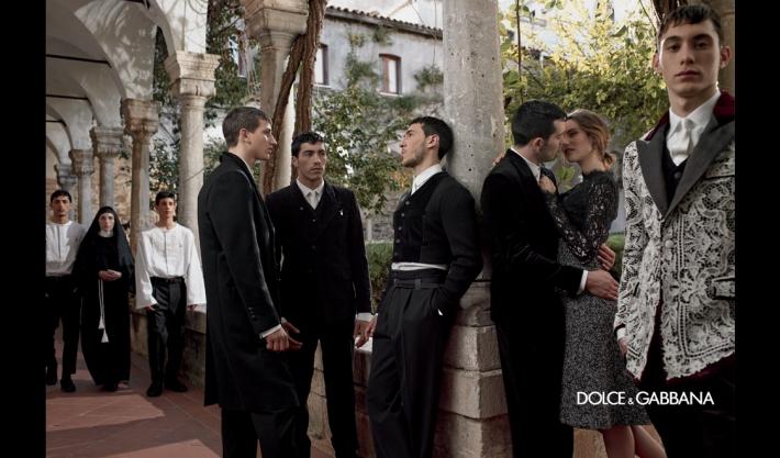 Рекламная кампания мужской коллекции Dolce&Gabbana осень/зима 2014