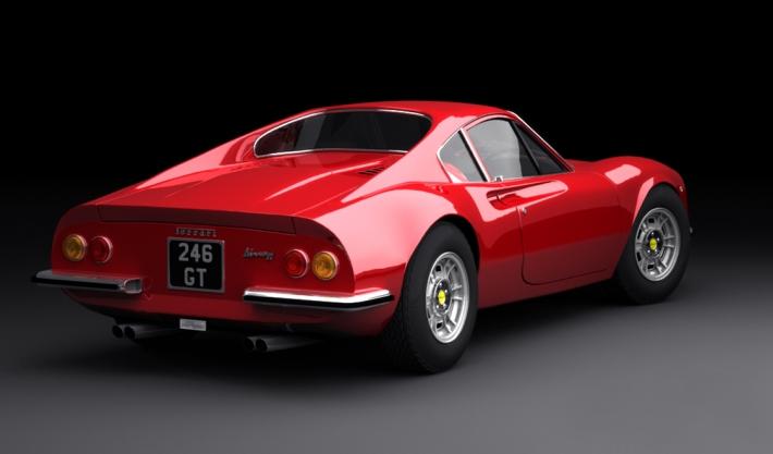 1971 Dino 246 GTS.