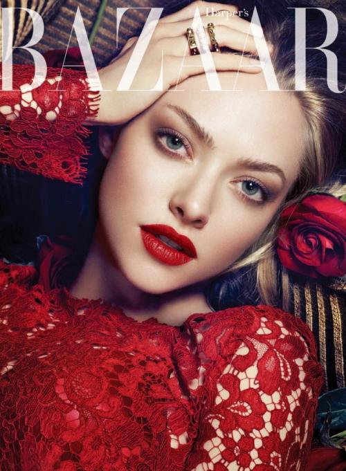 Аманда Сайфред в Dolce&Gabbana для корейского журнала Harper's Bazaar