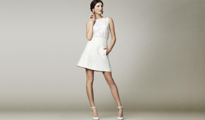 Dolce&Gabbana FW14, шелковый топ и парчовая юбка