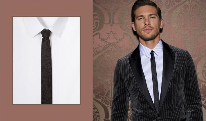 Dolce&Gabbana FW 2014, бархатный блейзер-смокинг в тонкую полоску
