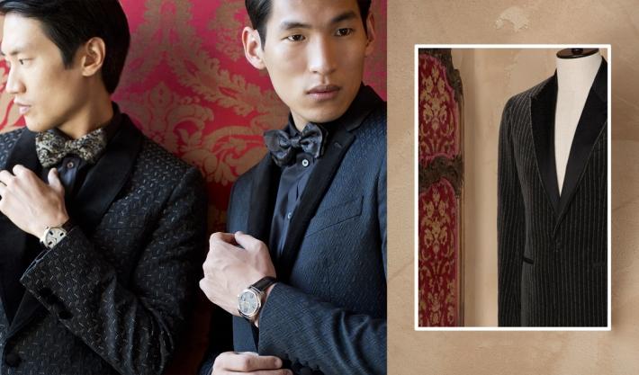 Dolce&Gabbana FW 2014, блейзер-смокинг из жаккарда