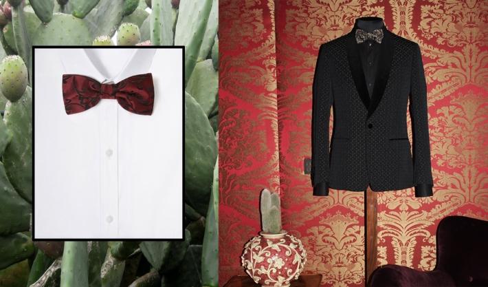 Dolce&Gabbana FW 2014, блейзер-смокинг и галстук-бабочка из жаккарда