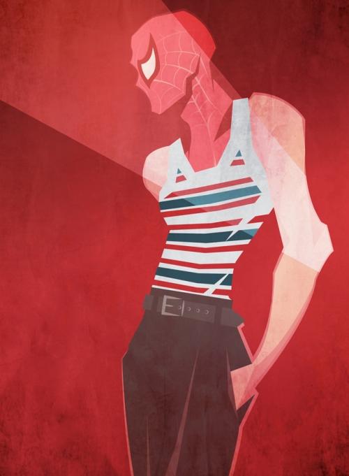Человек-Паук в Dolce&Gabbana, иллюстрация Питера МакНирни