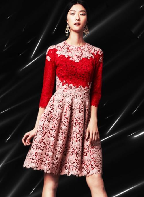 Dolce&Gabbana FW14, кружевное платье