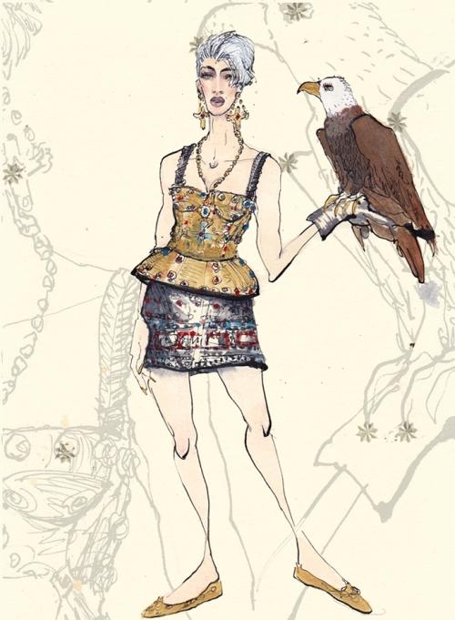 Орел, Dolce&Gabbana FW14, Лючио Пальмиери