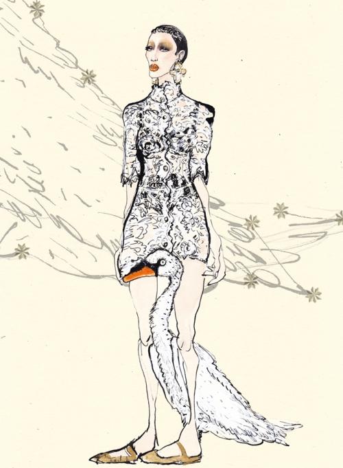 Лебедь, Dolce&Gabbana FW14, Лючио Пальмиери