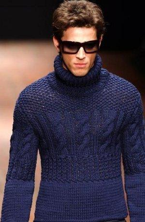 вязать мужской свитер спицами