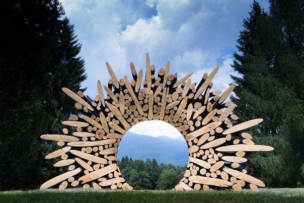 скульптуры и мебель из деревянных отходов2