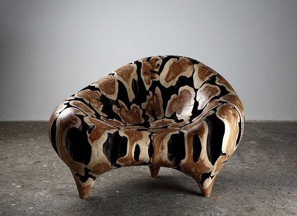 скульптуры и мебель из деревянных отходов6
