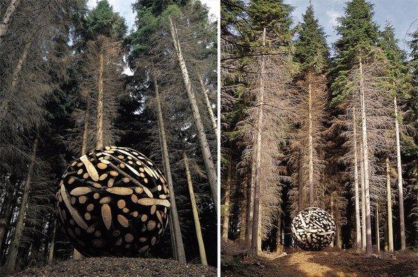 скульптуры и мебель из деревянных отходов7