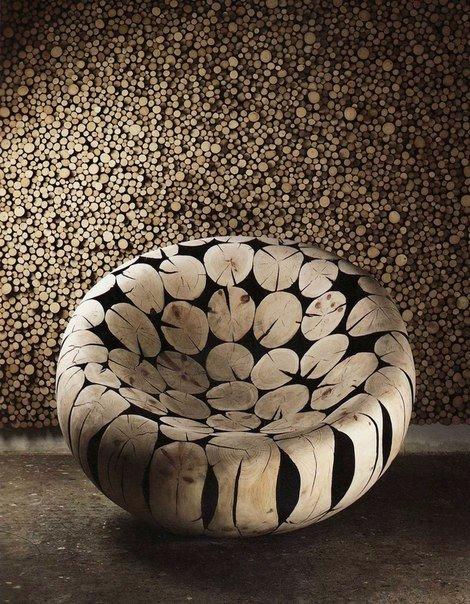скульптуры и мебель из деревянных отходов8