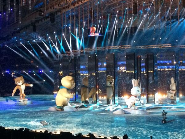церемония закрытия олимпиады 2014