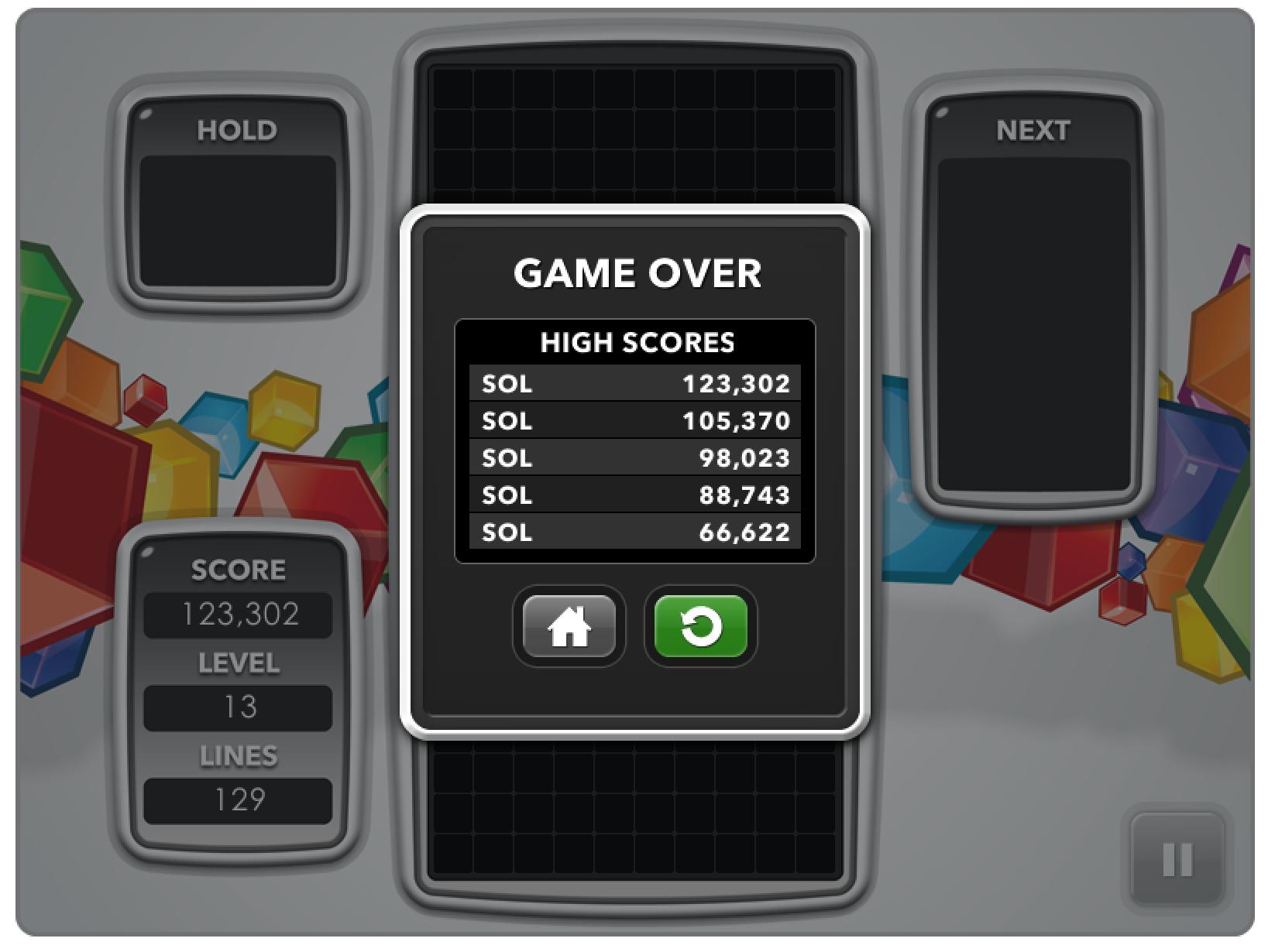 Tetris Highscore