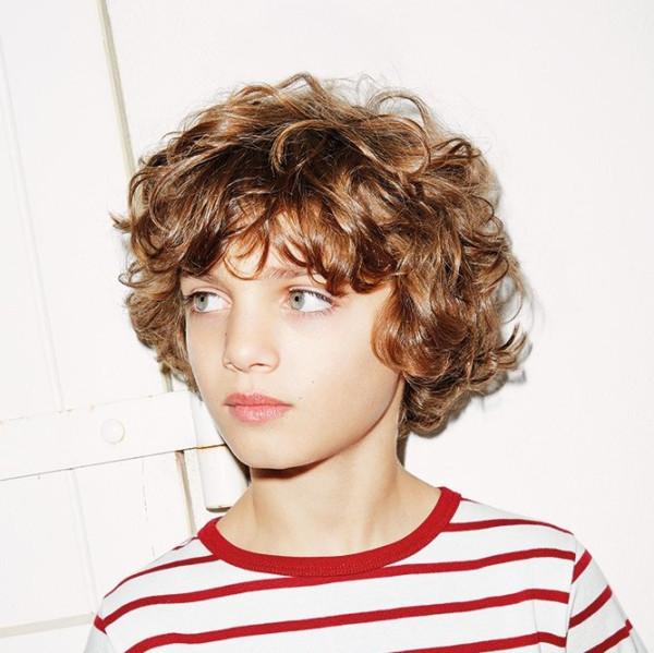 Стрижки детские на кудрявые волосы