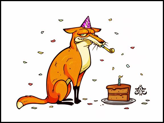 Открытка с лисичками с днем рождения, самураи арт поздравление