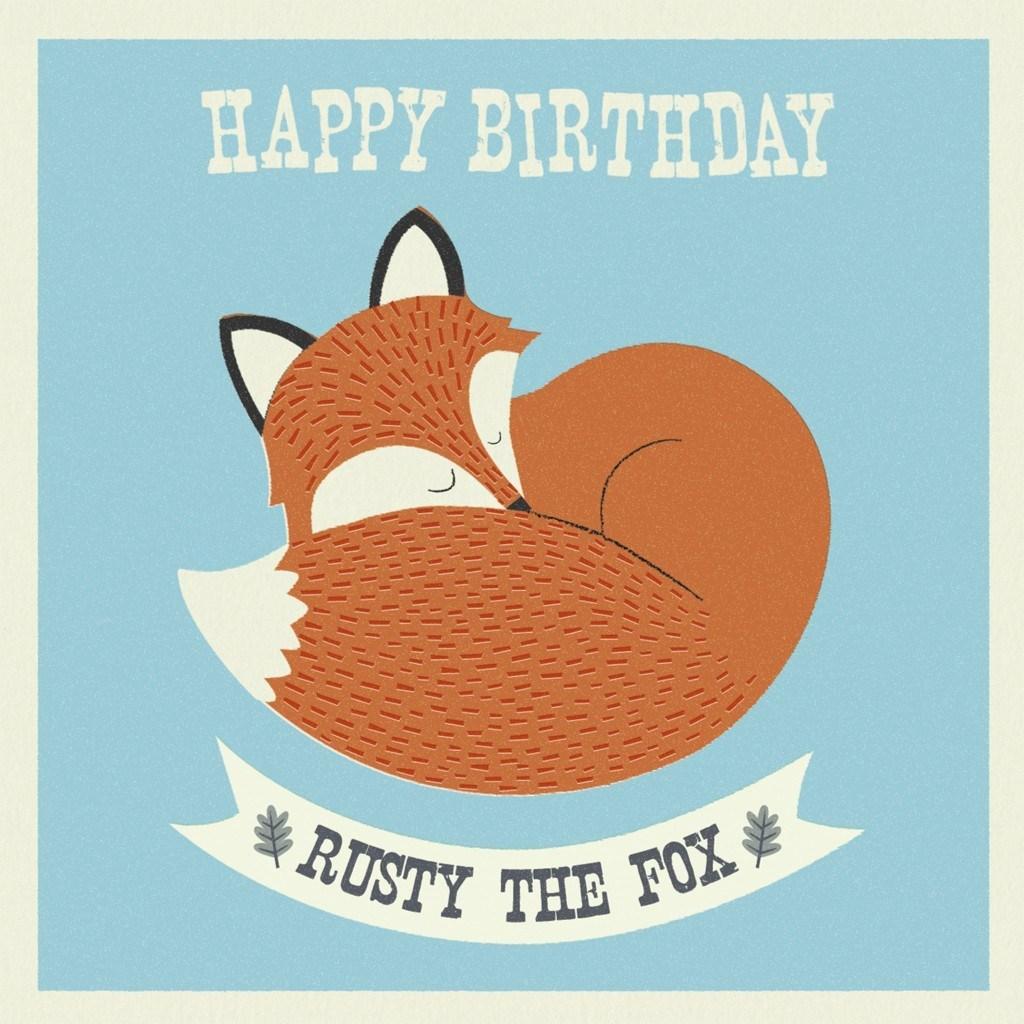 С днем рождения лиса открытка, дню медика