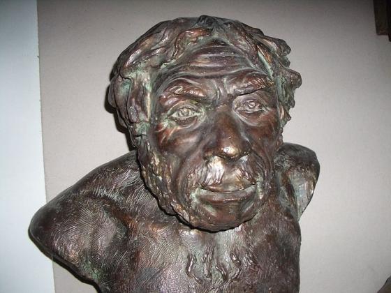 Неандерталец в реконструкции М.М. Герасимова. Источник: regnum.ru/pictures/2246613/1.html