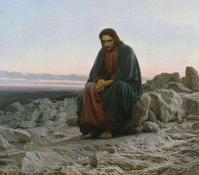 """Иван Крамской """"Христос в пустыне"""""""