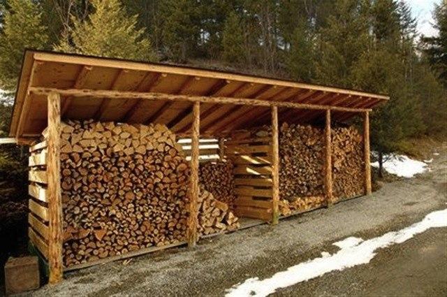Как самому построить дровяник