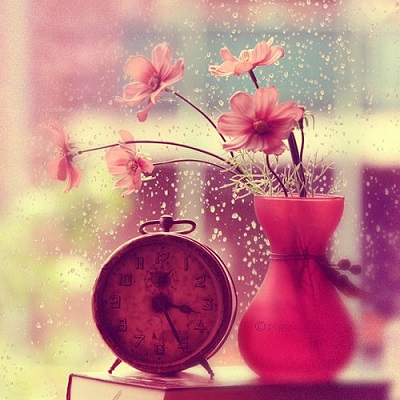 clock-cute-flowers-image-Favim.com