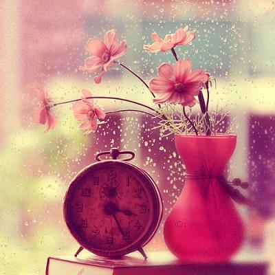 clock-cute-flowers-image-Favim.com