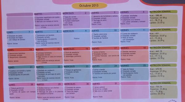 школьное меню