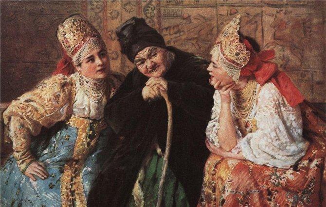 Где Маковский брал короны для своих боярышень