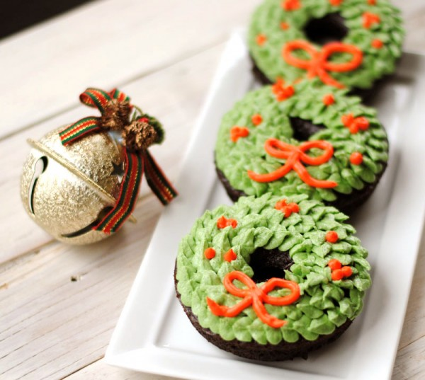 Christmas Wreath Donut