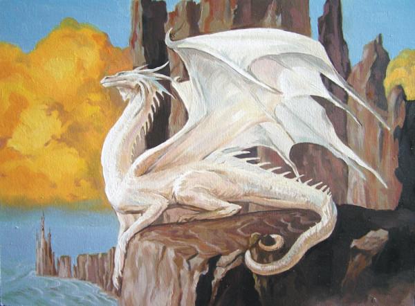 белый дракон фото