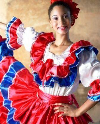 национальные цвета доминиканы, одежда доминиканцев