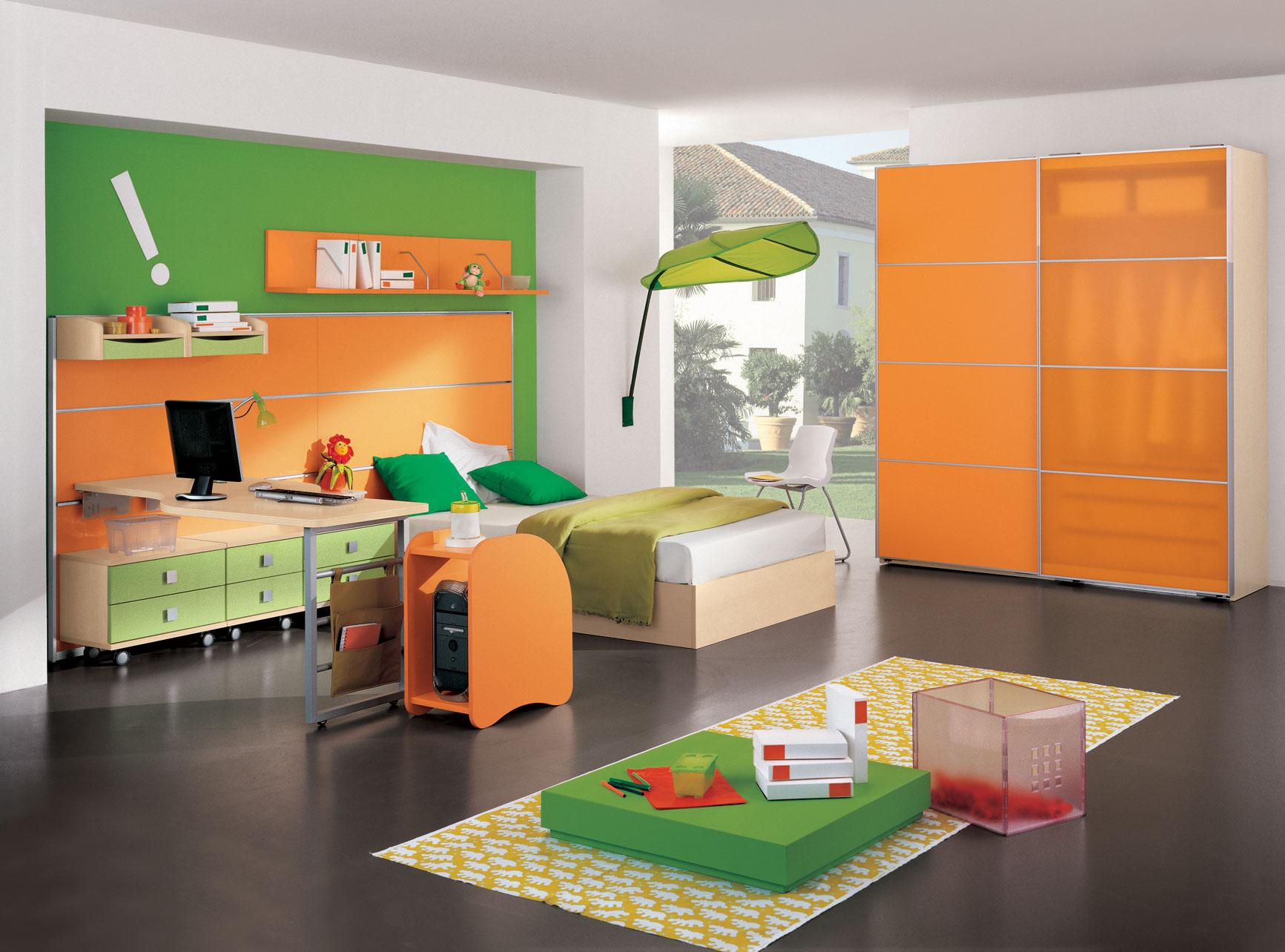 modern-kid-room-with-orange-color-1646