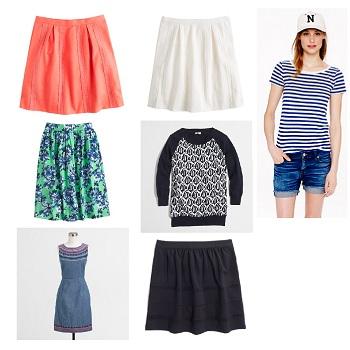 J.Crew Lace-Stripe Skirt (2)