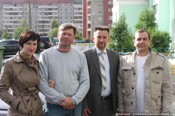 Евгений, Константин, Юлия Доможировы и Евгений Молотов (4)