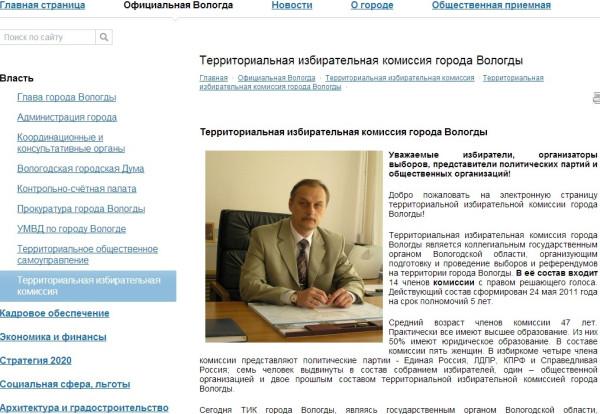 Официальная страничка вологодского ТИКа