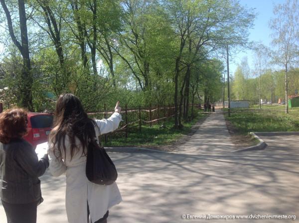 Ольга Смирнова на бульваре по улице Гагарина (2)