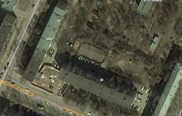 Вологда. Проспект Победы на картах Яндекс