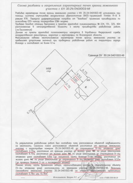 Экспертиза по захвату участка ВологдаСтройЗаказчиком