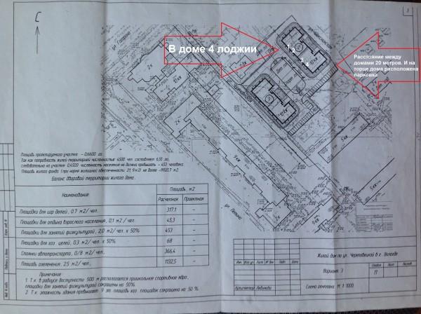 Первоначальный план застройки по Шекснинской-Череповецкой
