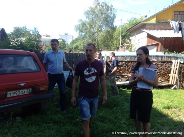 Вологда. Набережная 6-й Армии. Комиссия 5 августа 2014 года (3)