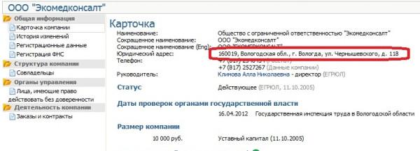 Госзаказы Аллы Николаевны Климовой Экомедконсалт