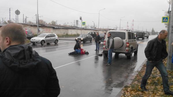 сбили пешехода на Можайского в Вологде 29.09 (1)
