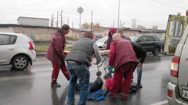 сбили пешехода на Можайского в Вологде 29.09 (2)